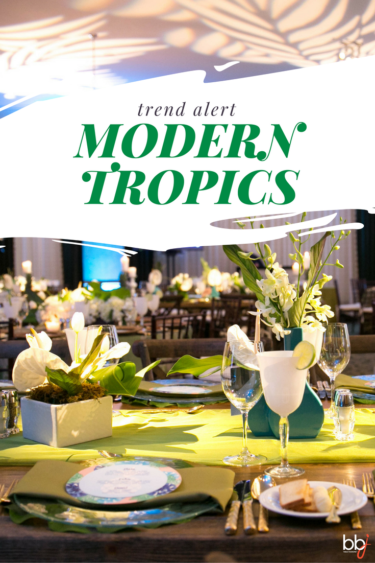 Trend Alert: Modern Tropics Event Decor