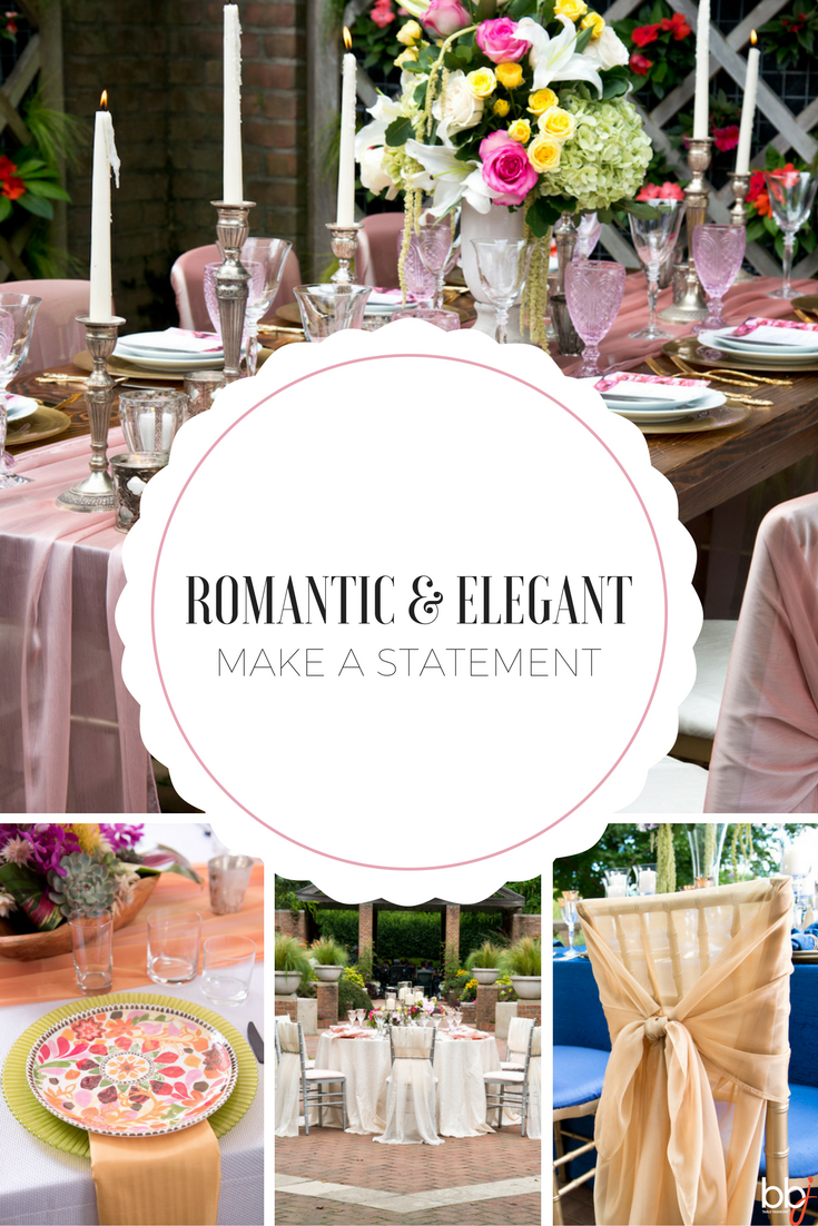 Make a Romantic and Elegant Statement at Your Wedding | BBJ Linen