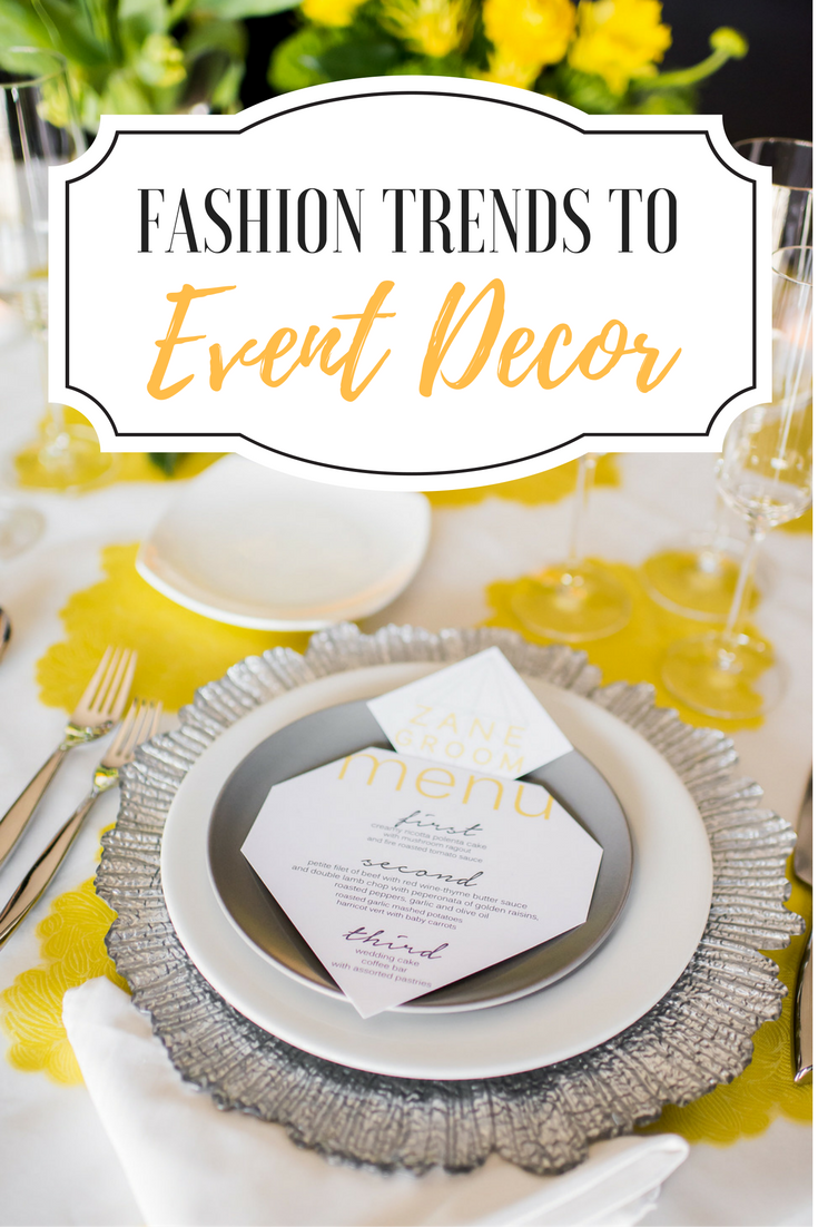 NYC Fashion Runway Trends to the Tabletop