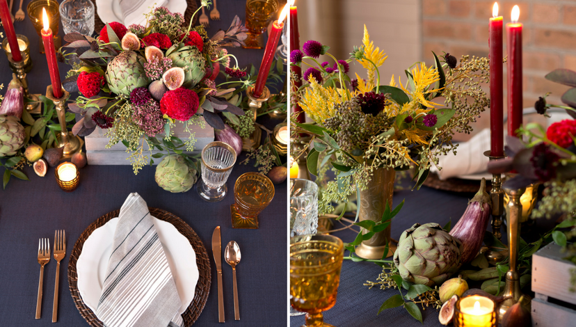 Building Drama with Contrast in Fall Harvest Tablescape