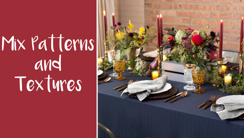 Mix Patterns and Textures in Your Event Decor for Autumn