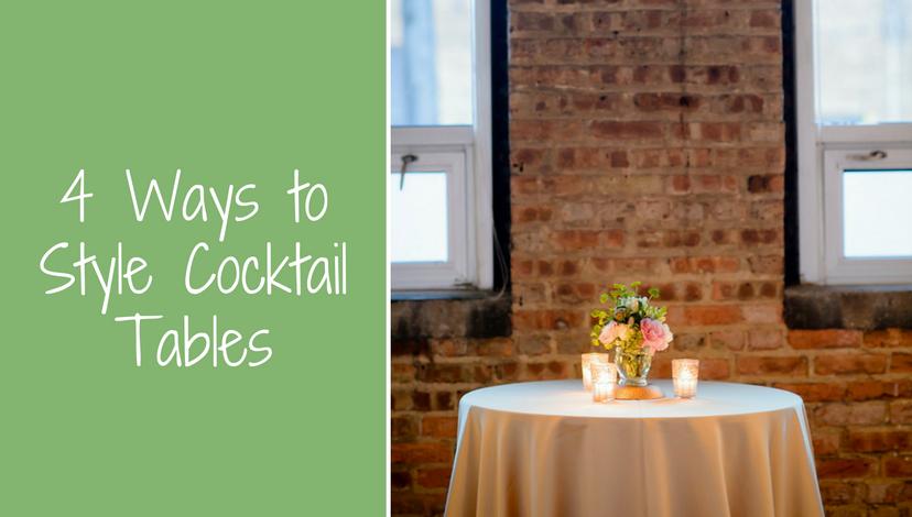 Style Cocktail Tables | BBJ Linen