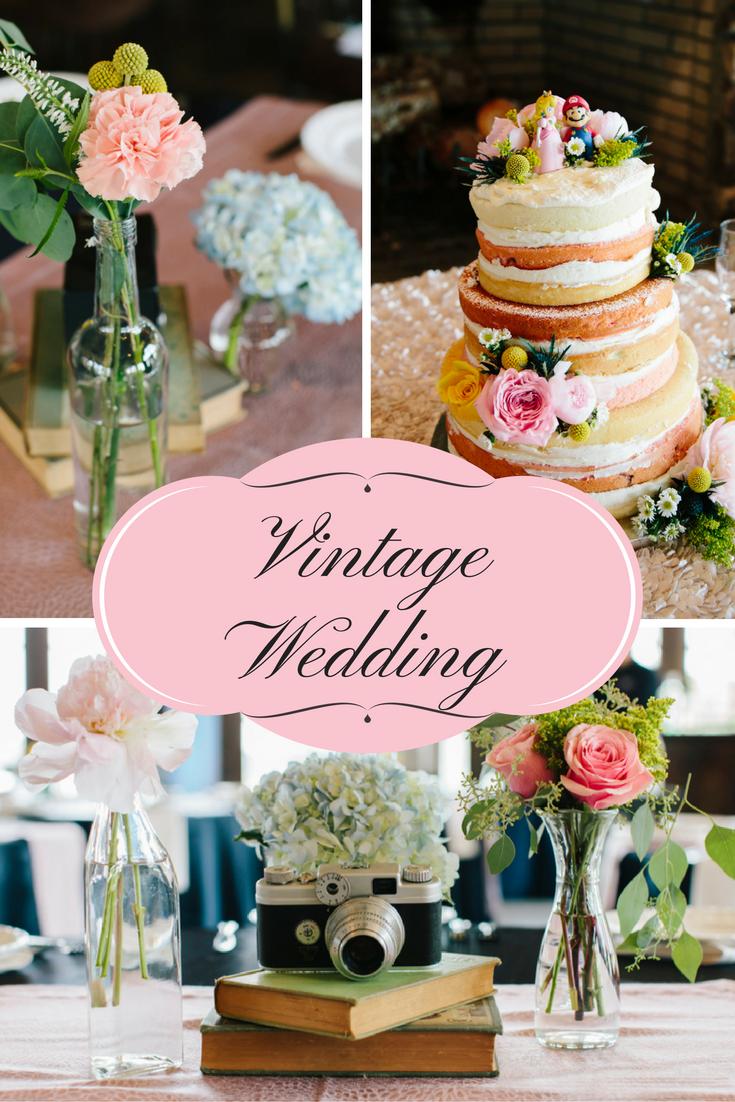 Personalized Vintage Wedding Decor
