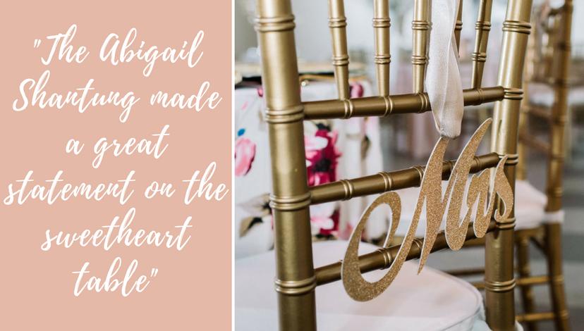 Abigail Shantung | BBJ Linen
