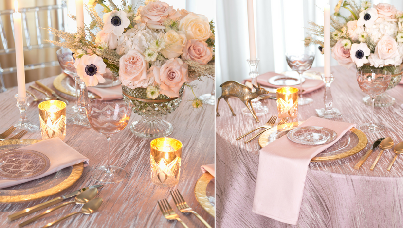 Mauve Moda Table Setting | BBJ Linen