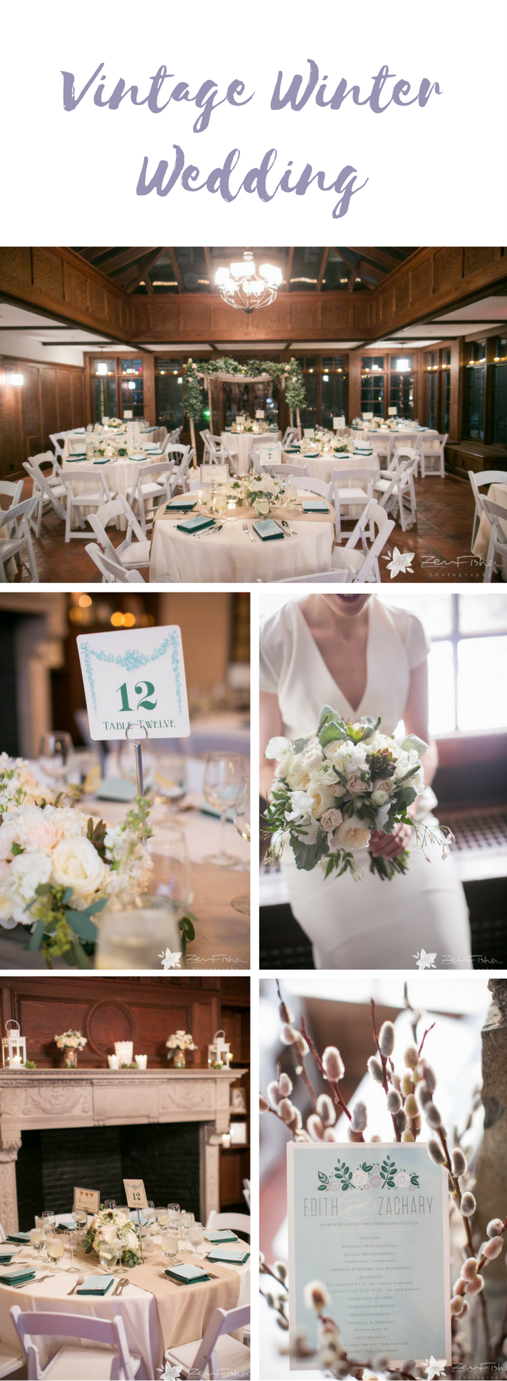 Think White to Capture the Vibe for a Vintage Winter Wedding