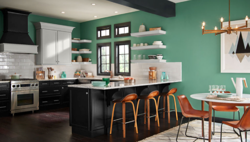 Popping Green Kitchen | BBJ Linen