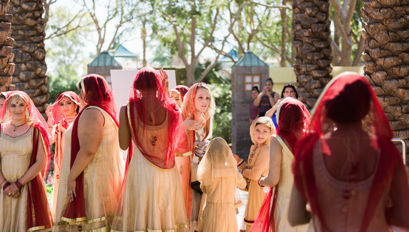 Bridesmaids in Turbans | BBJ Linen