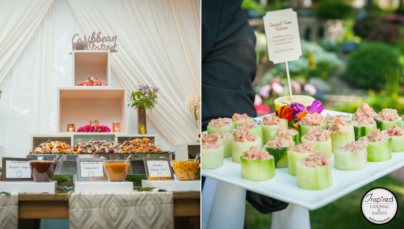 Beautifully Coordinated Food Stations | BBJ Linen