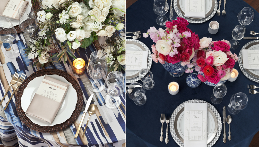 Blue Wedding Table Inspiration | BBJ Linen
