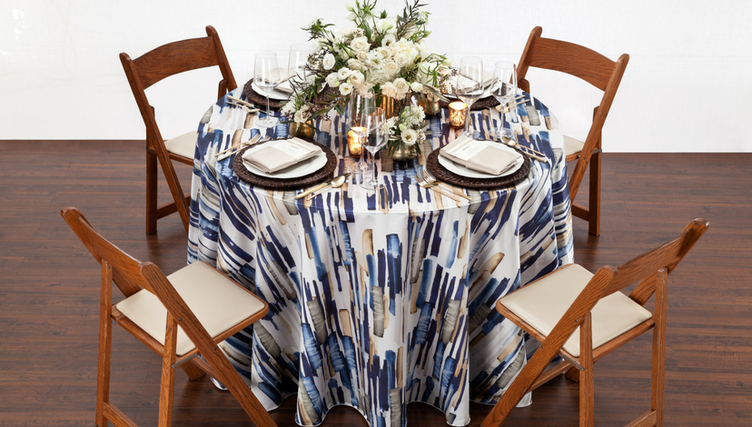 Blue Edgewater Table | BBJ Linen