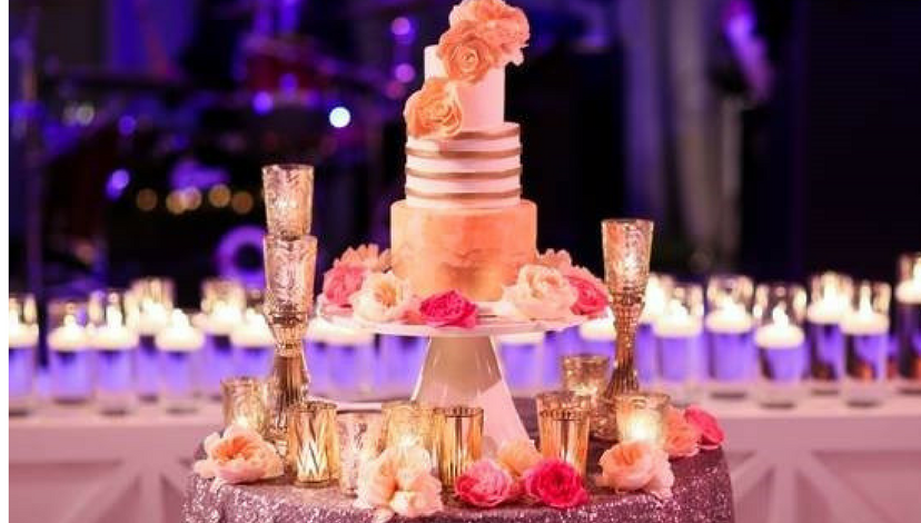 Cake Table with Sequins | BBJ Linen