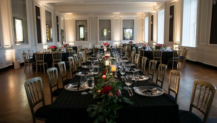 Black Table Linen Wedding | BBJ Linen