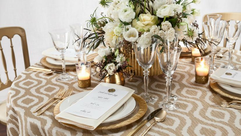 Gilded Jakarta Table Linen | BBJ Linen