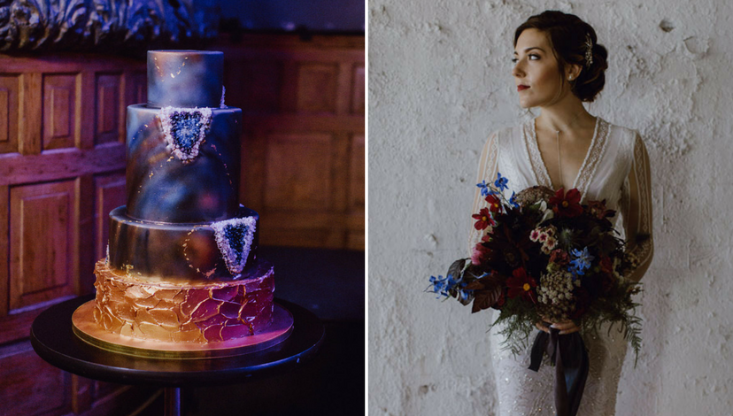 Geode Wedding Cake | BBJ Linen