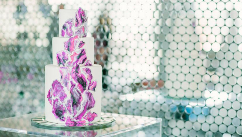Geode Trend Wedding Cake | BBJ Linen