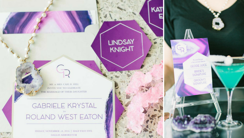 Geode Wedding Invitations | BBJ Linen