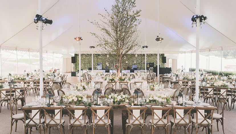 Canopy Tent Reception | BBJ Linen