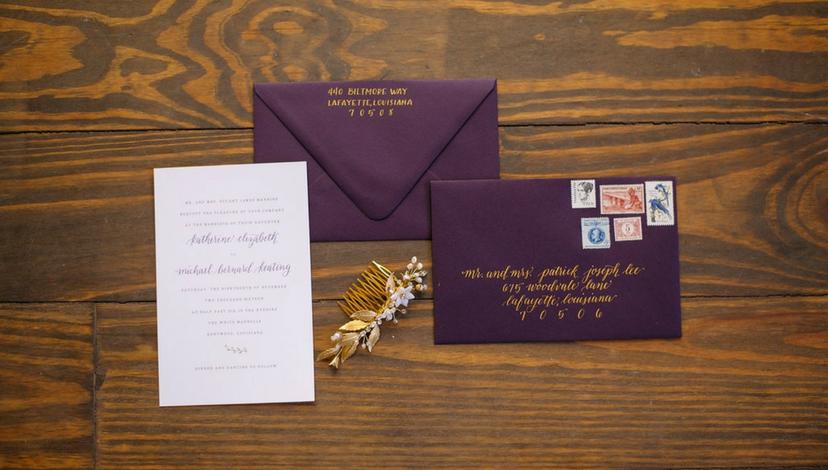 Plum Wedding Invitations | BBJ Linen