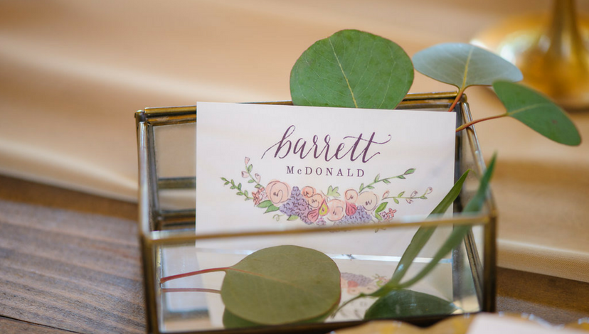 Floral Name Cards | BBJ Linen