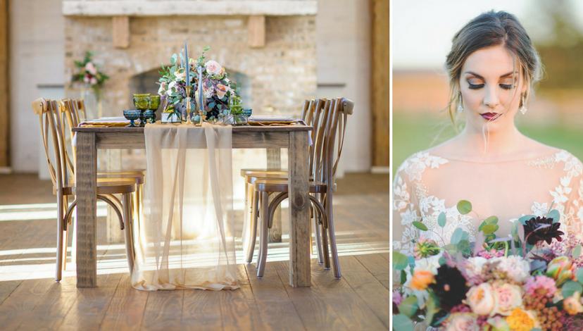 Moody Floral Wedding | BBJ Linen