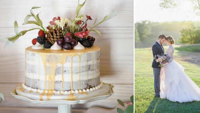 Cake with Gold Runner | BBJ Linen
