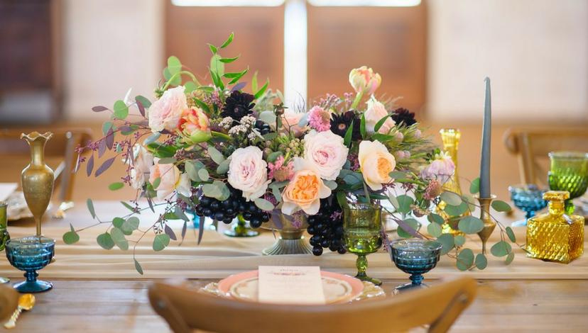 Whimsical Dark Florals | BBJ Linen