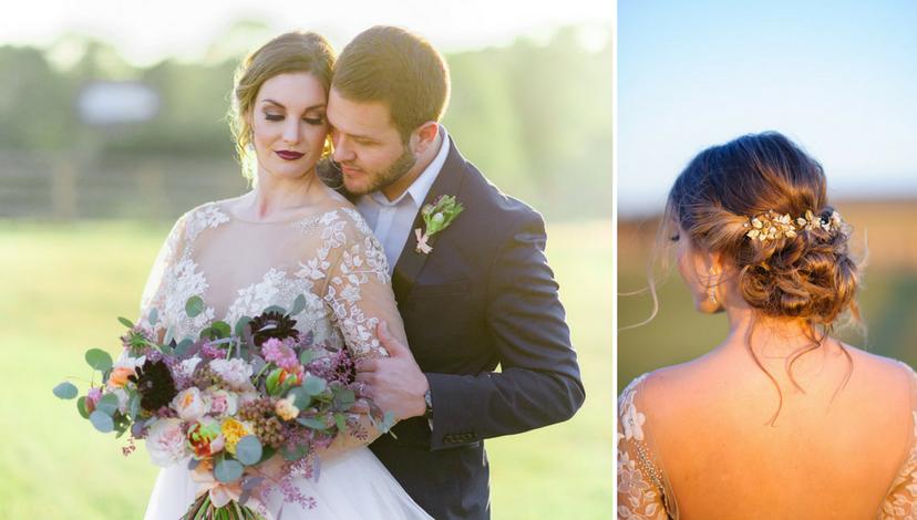 Whimsical Wedding with Dark Blooms | BBJ Linen