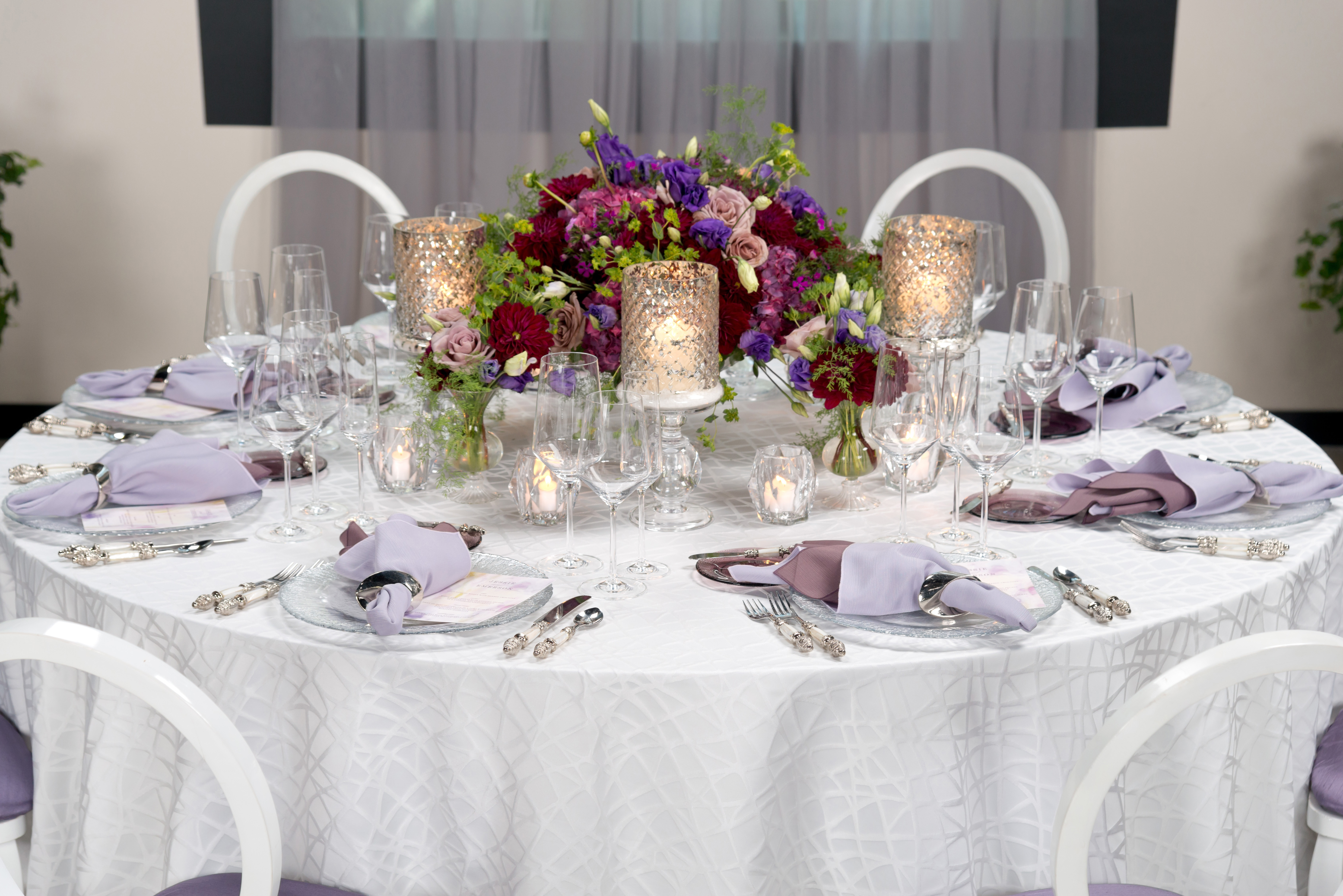BBJ Linen Everlast Kehoe Collection - Pearl Brimble Tablescape