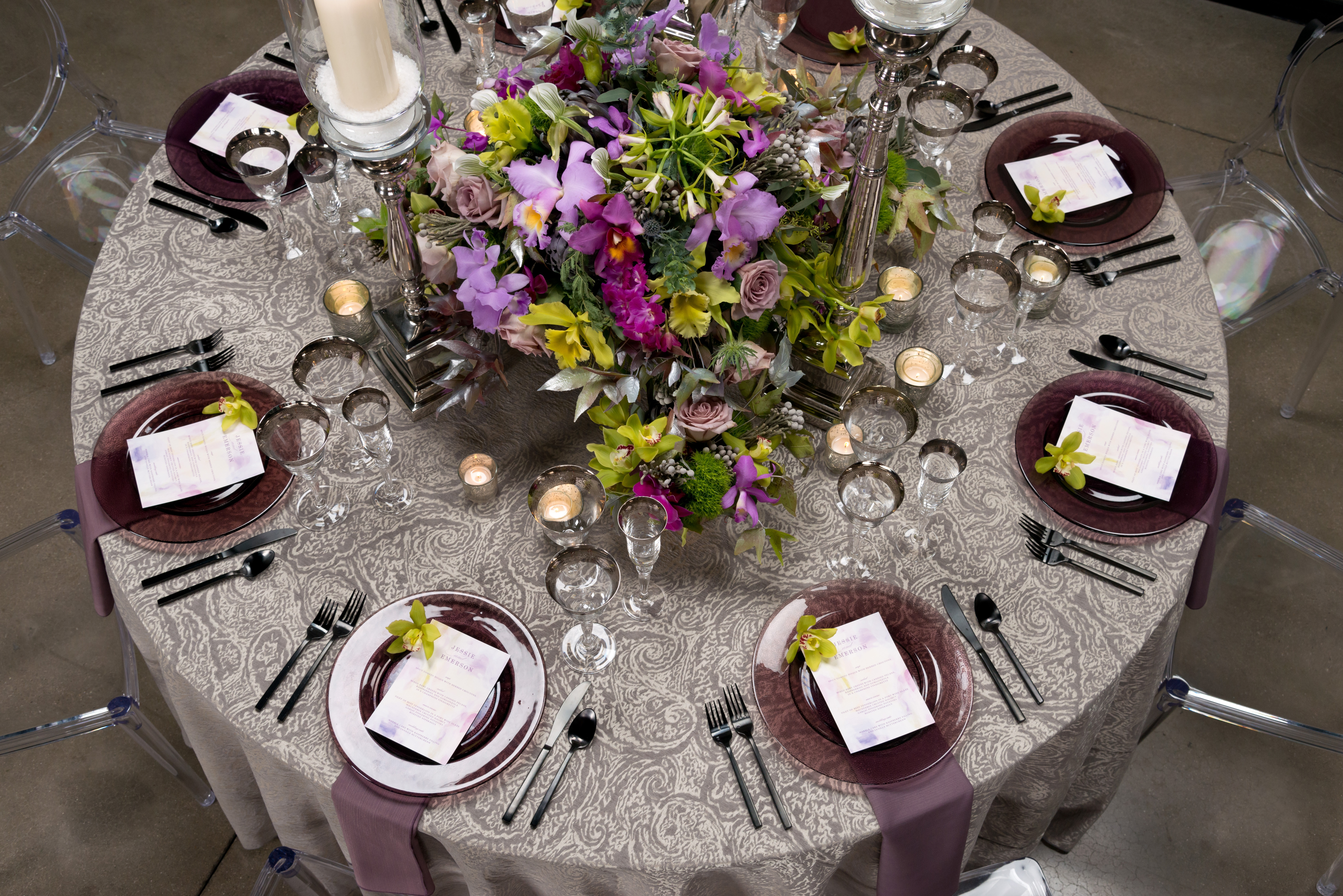 BBJ Linen Everlast Kehoe Collection - Prado Tablescape 2