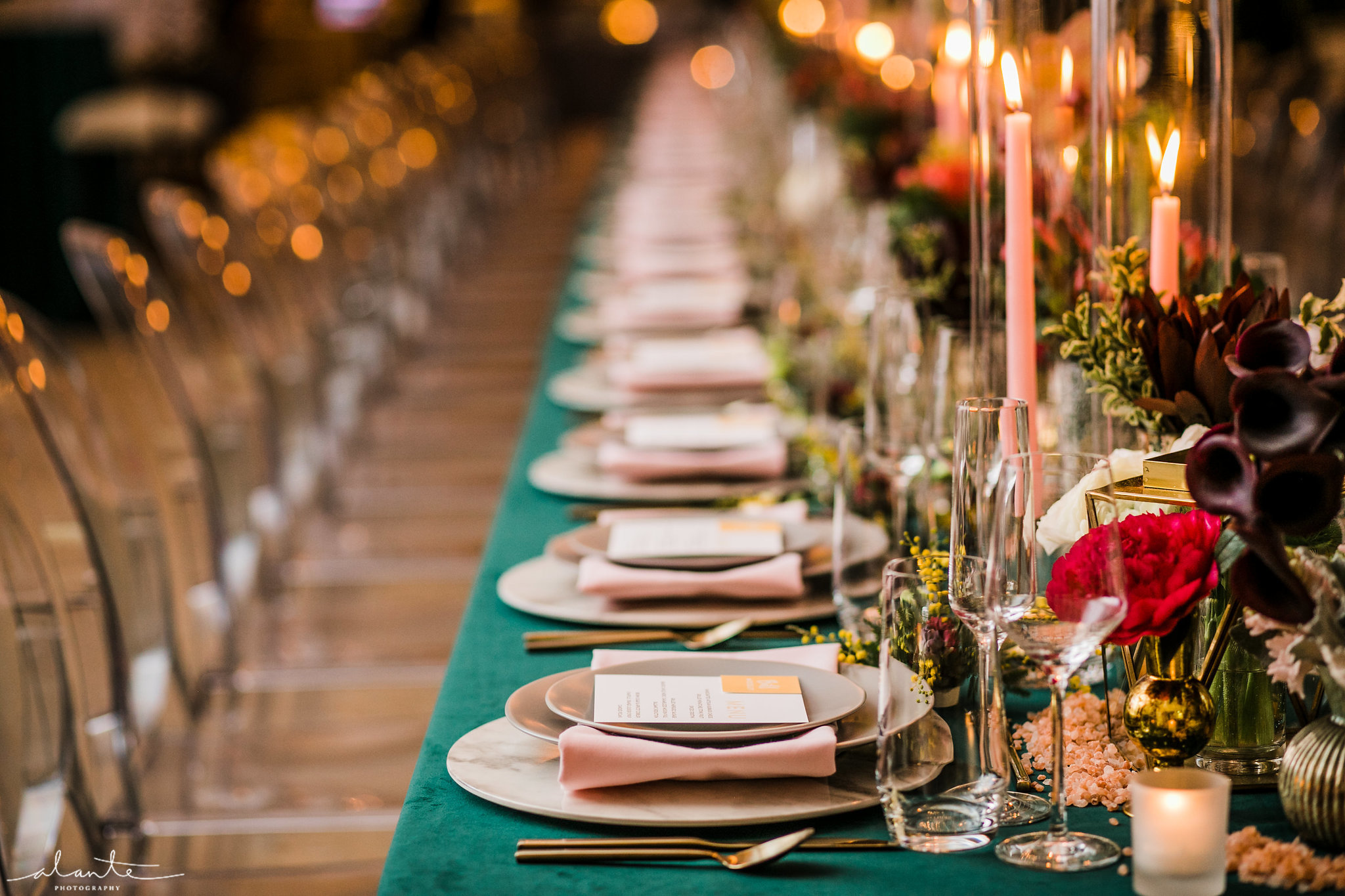 Bold Evergreen Tablescape