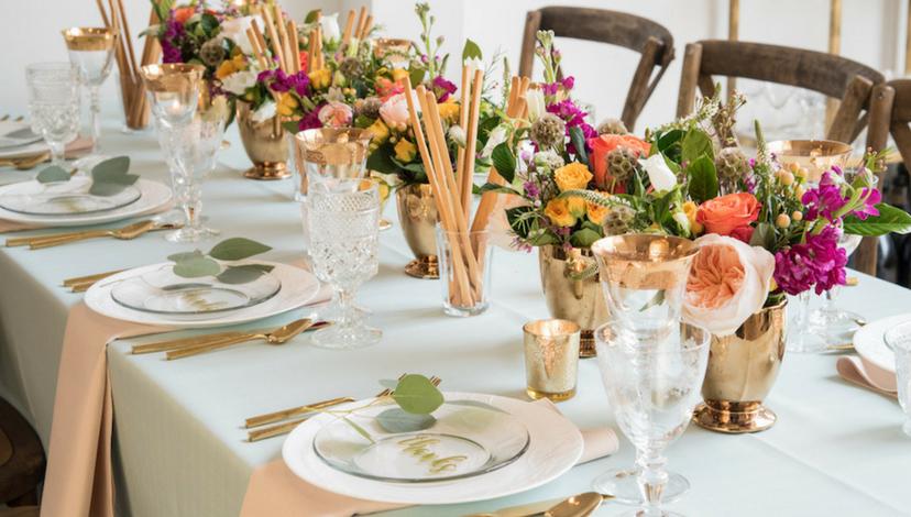 Romantic Hemlock Green Table