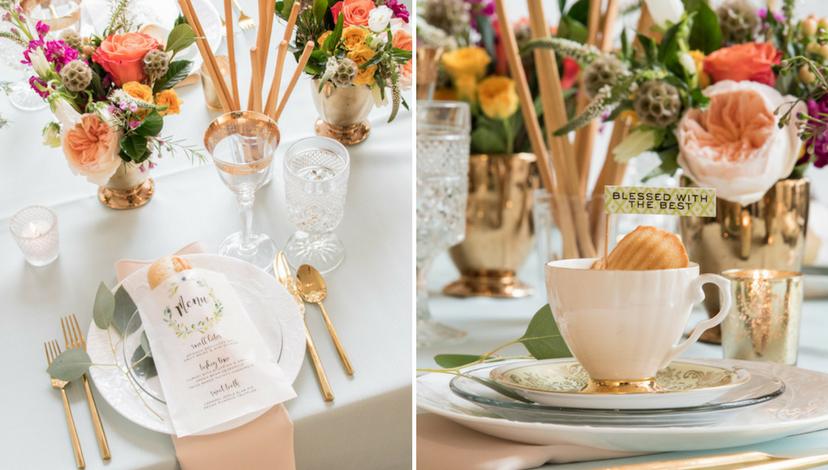 Romantic Hemlock Green Table Details
