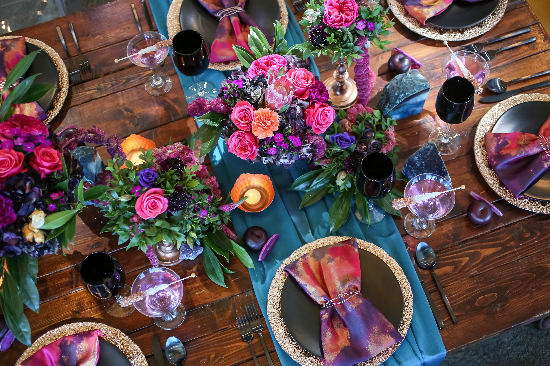 Bold Color Tablescape