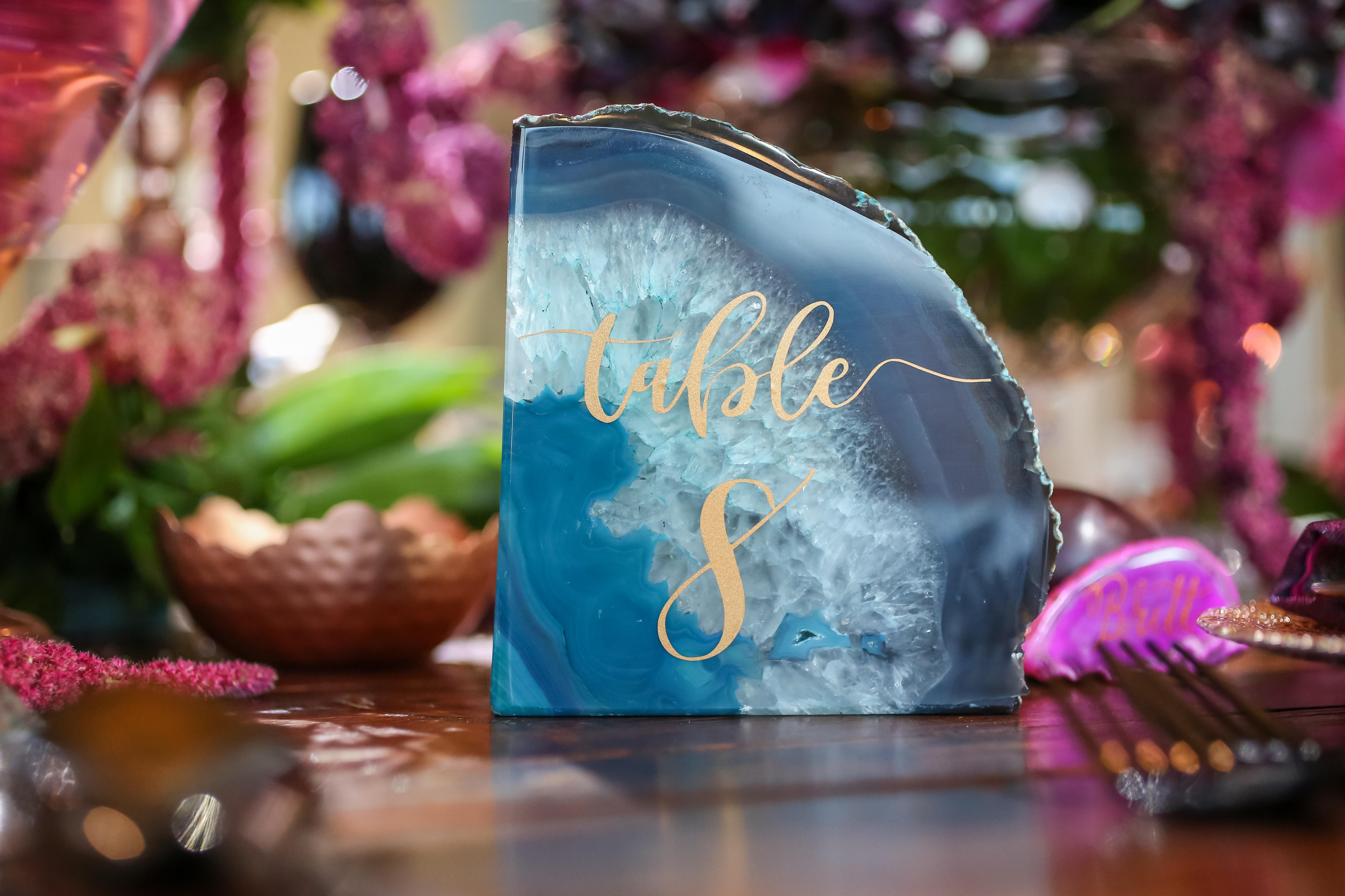 Geode Wedding Table Numbers