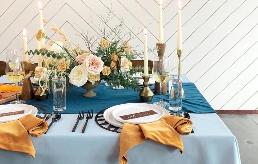 Metal Placemats for Summer Weddings