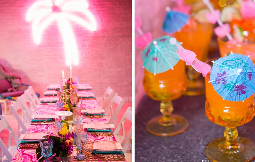 Neon Tropical Wedding and Event Theme
