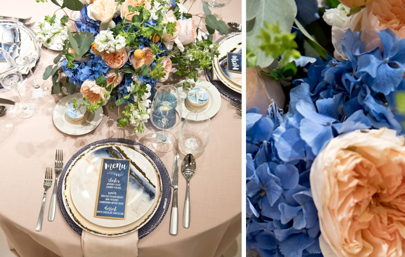 Pink and Blue Wedding Color Inspiration