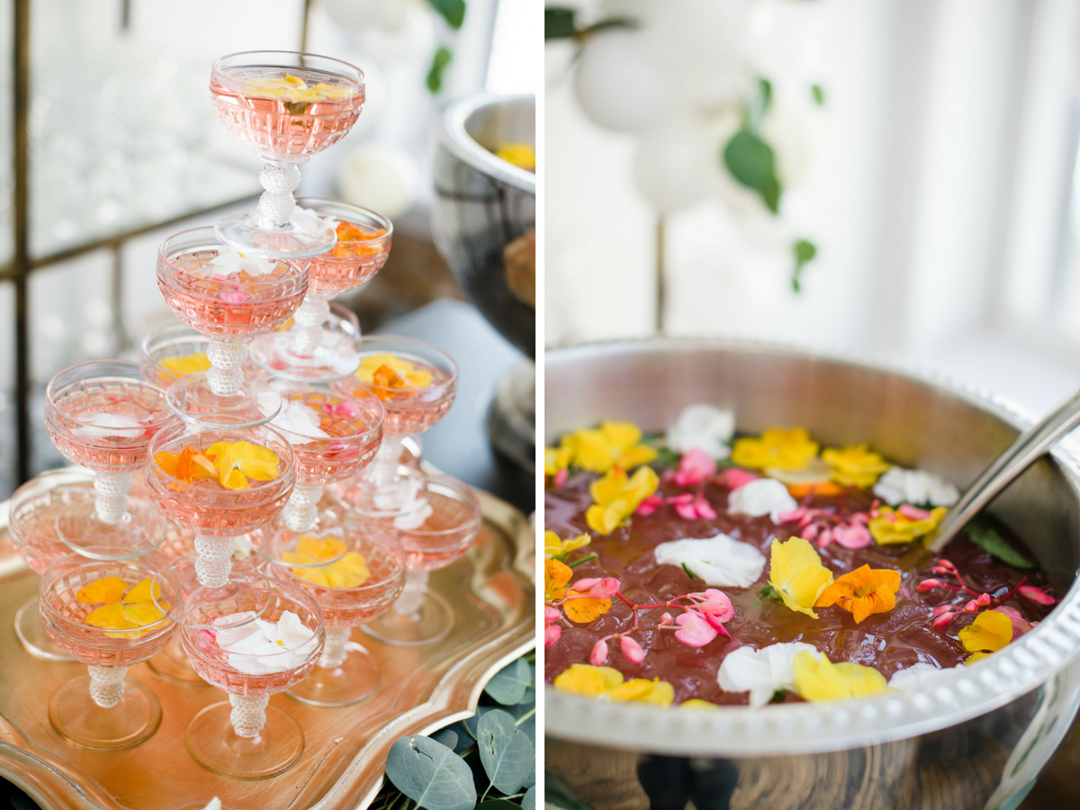 Edible Flower Cocktails