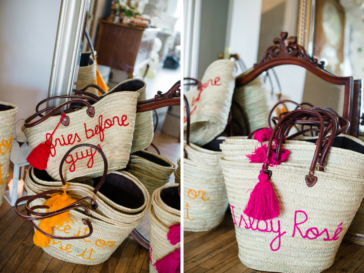Embroidered Tote Bag Party Favors