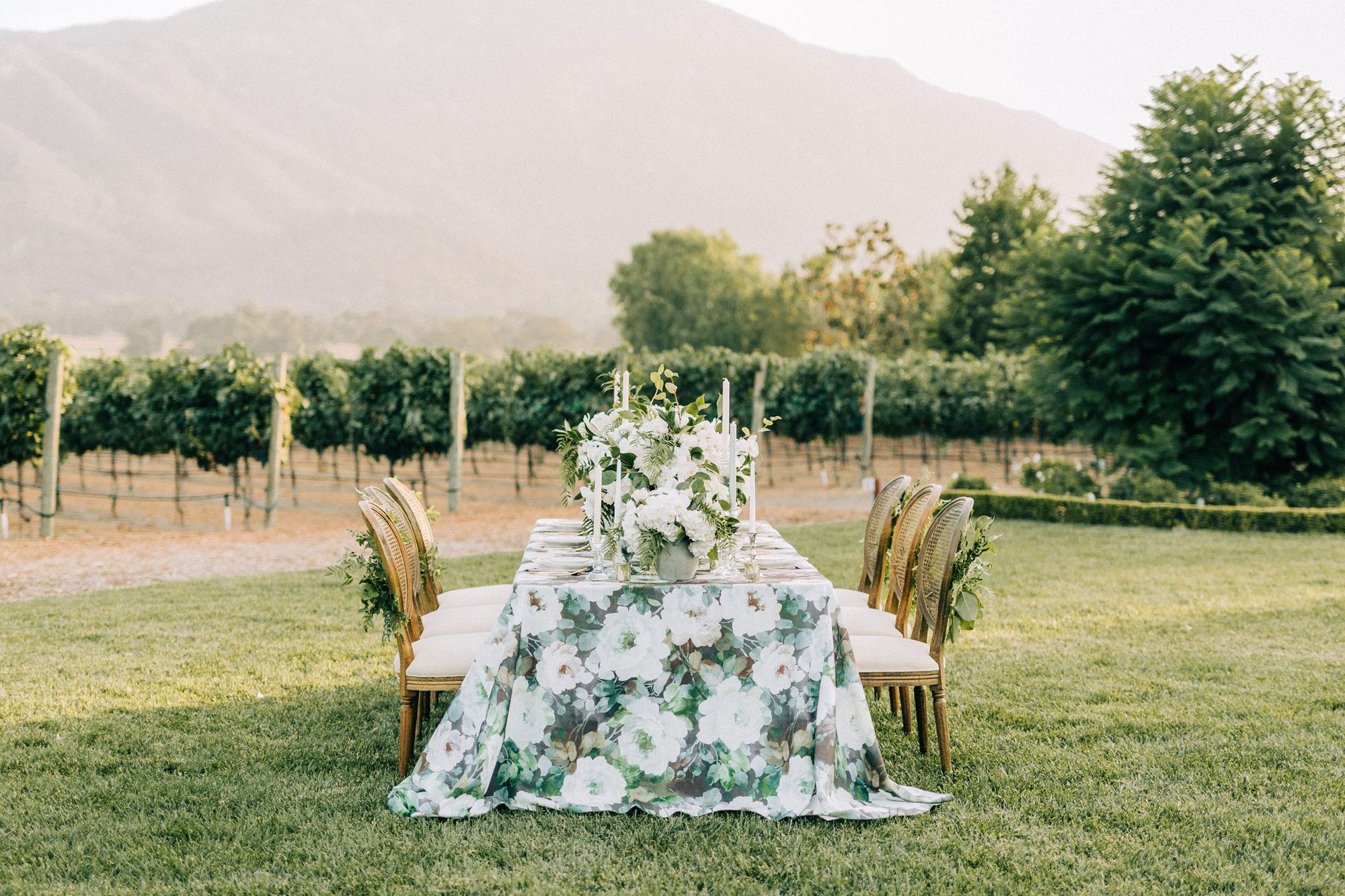 Vineyard Wedding Table