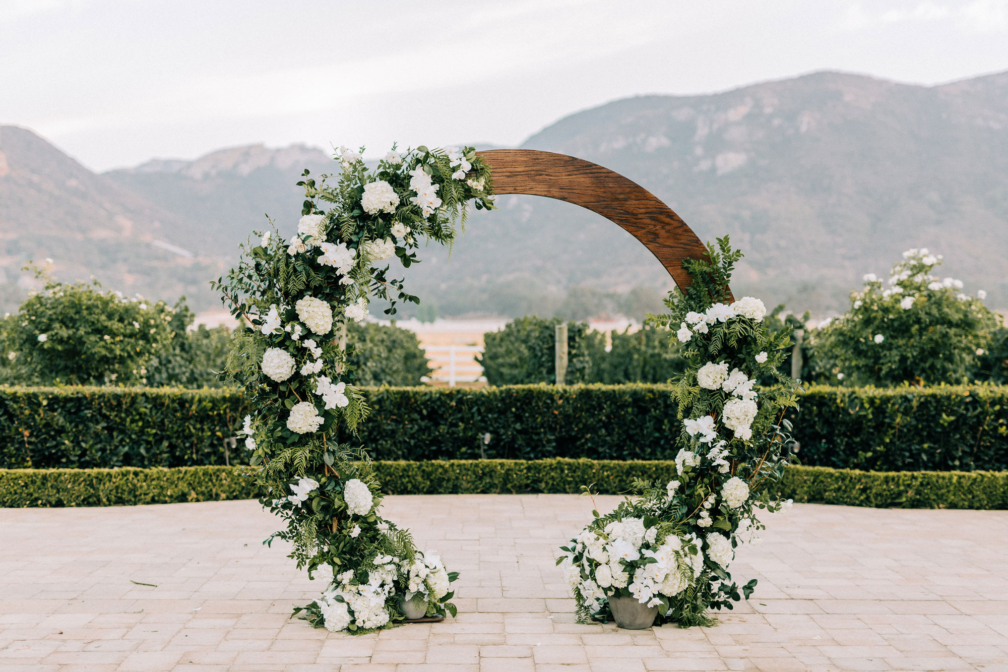 Mountain Wedding White Flowers