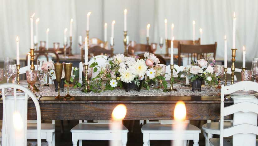 rustic-wedding-candles