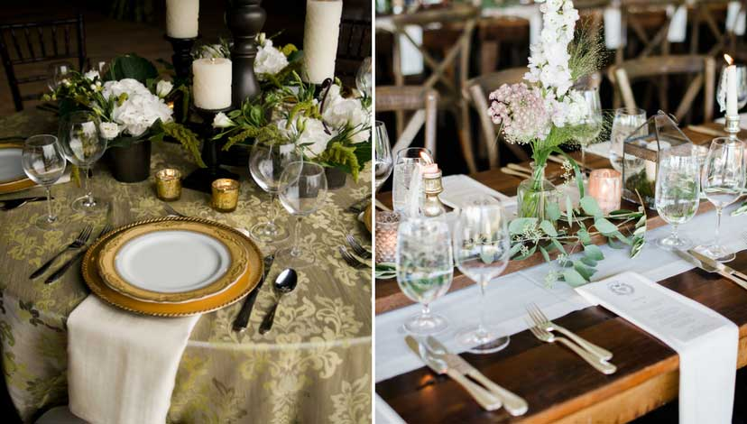rustic-wedding-crockery-flowers