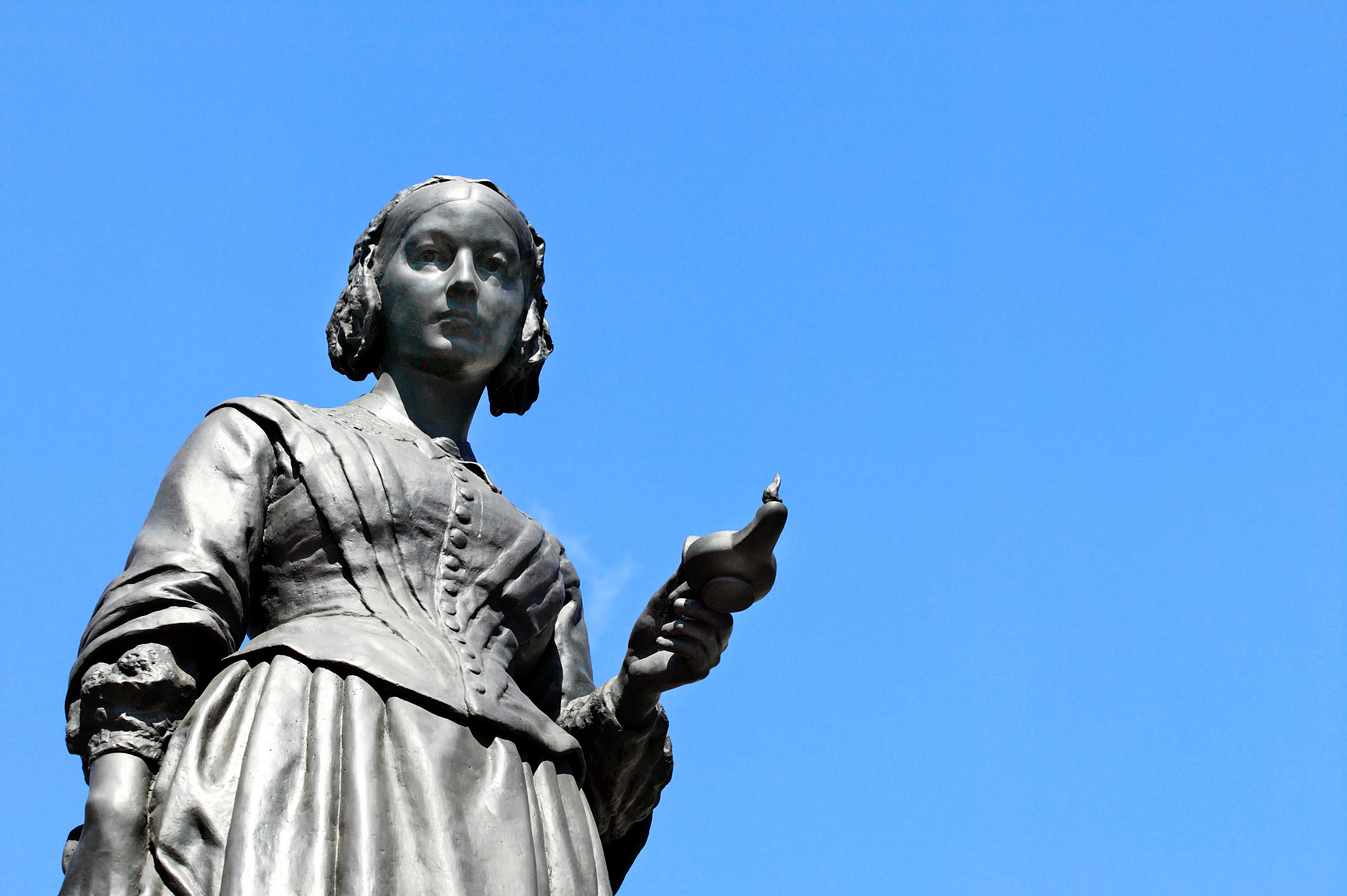 statue of Florence Nightingale against blue sky