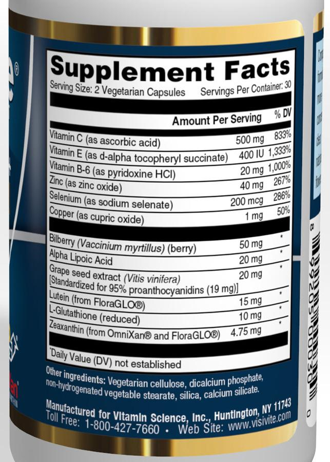 visivite gold supplement facts