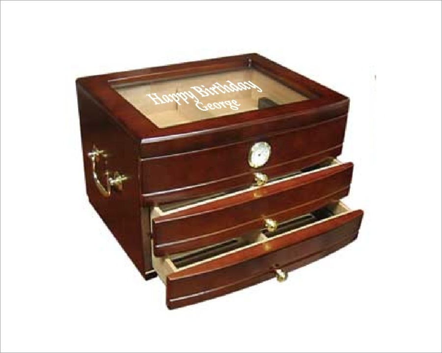 Engraved Humidor Viceroy