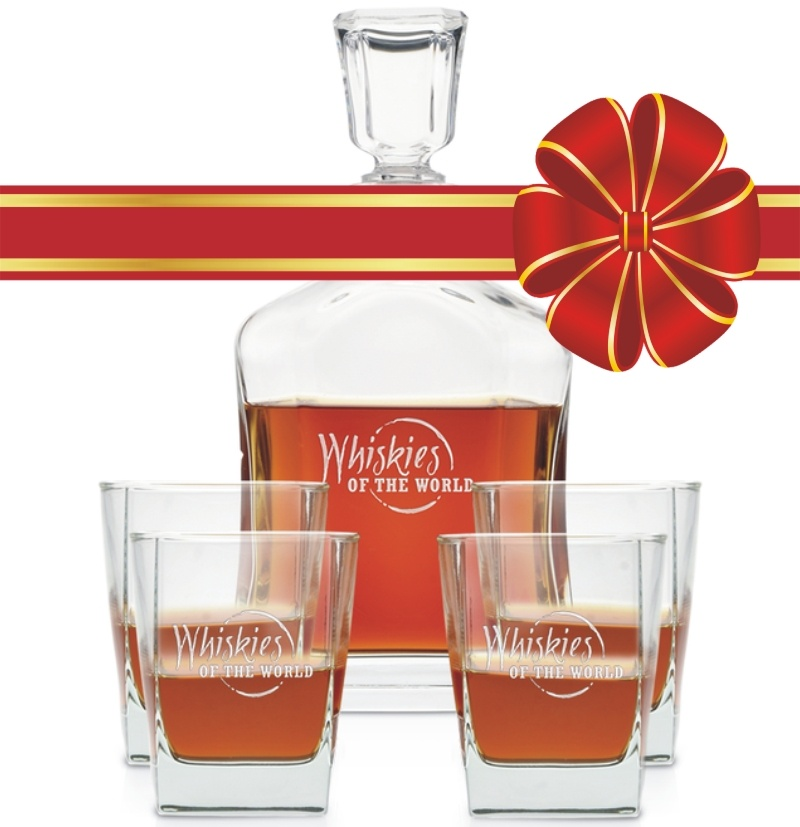 Engraved Decanter set with red ribbon.jpg
