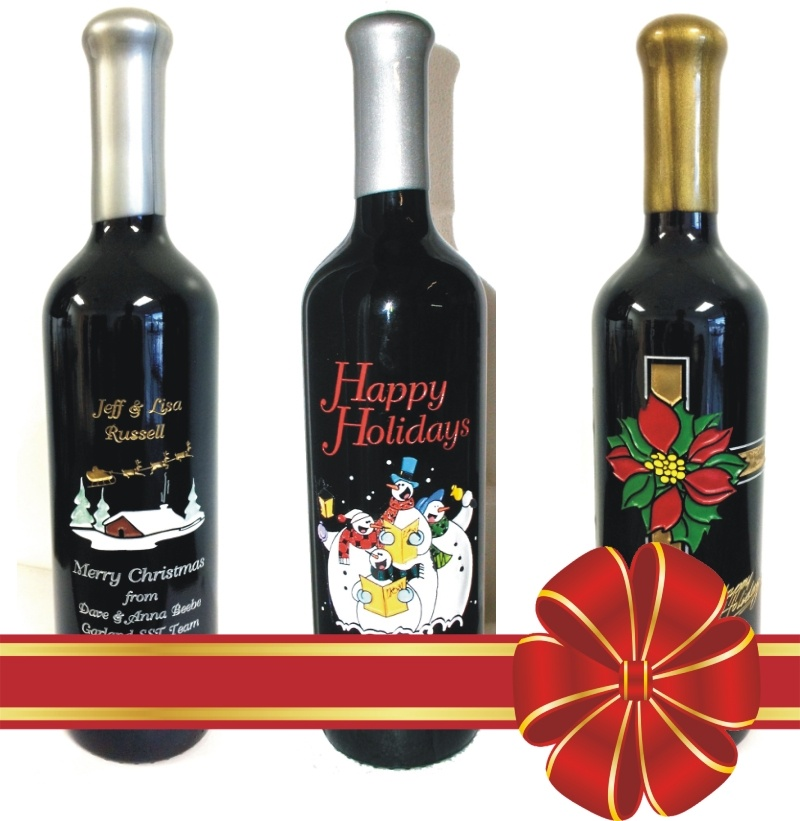 engraved wine bottles holiday red ribbon.jpg