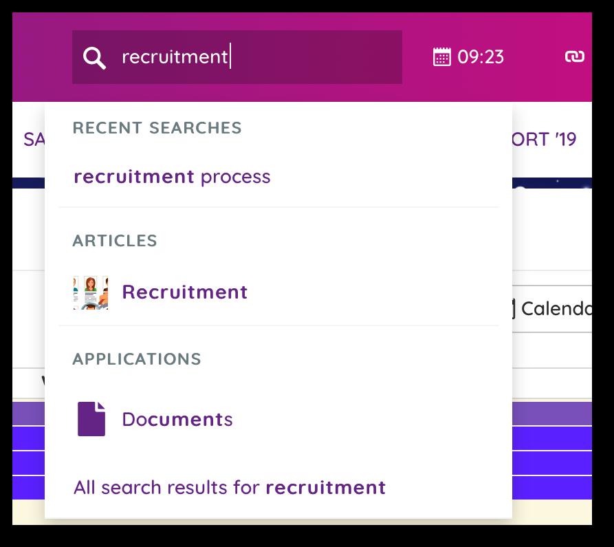 Claromentis dynamic search